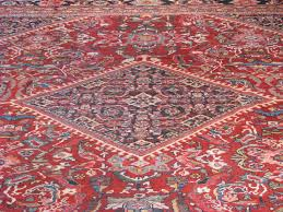 Red And Blue Persian Rug by Mahal Antique Rugs Vintage Persian Rugs