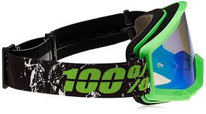 tinted motocross goggles amazon com 100 unisex goggle green mirror green one size