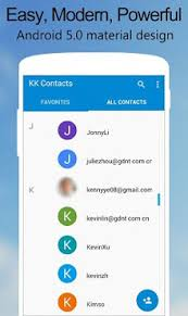 contacts app android kk contacts apk for android