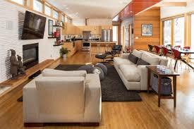 offene küche wohnzimmer wohnzimmer und küche in einem raum gestaltungsideen