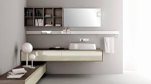 Contemporary Bathroom Cabinets - classy floating sink cabinet set in a contemporary bathroom clad