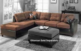 living room gray microfiber sectional sofa 50 with gray