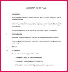 doc 585700 emergency action plan template u2013 sample emergency