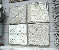 Rustic Wall Decor Wall Ideas Zoom Distressed Wood And Metal Wall Decor White