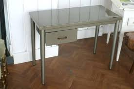 Small Steel Desk Small Steel Desk Vintage Stainless Computer Interque Co
