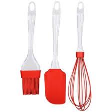 lot ustensiles de cuisine promobo set lot 3 ustensiles de cuisine en silicone fouet