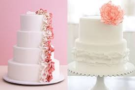 pink and white ruffled wedding cakes elizabeth anne designs the