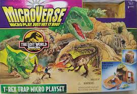 the lost world jurassic park microverse the lost world jurassic park t rex trap micro playset