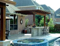 outdoor kitchen ideas for small spaces stunning flat roof and island for outdoor kitchen ideas in