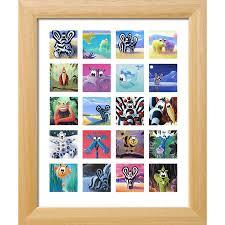cadre chambre bébé tableau animaux série animaux 20 carrés décoration chambre enfant