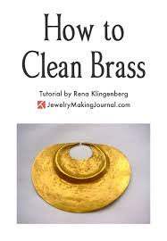 how to clean brass jewelry journal