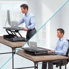 Studio Trends 46 Desk Dimensions by Amazon Com Varidesk Pro 36 Height Adjustable Black Desktop