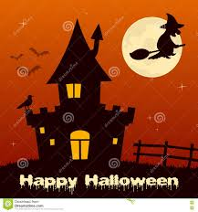 halloween haunted house background images halloween night witch u0026 haunted house stock vector image 77040862