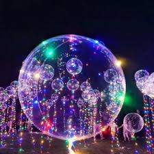 clear balloon with led string lights transparent in led