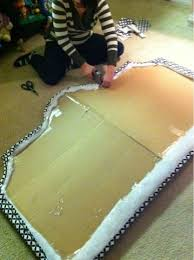 How To Make Your Own Fabric Headboard by Best 25 Cardboard Headboard Ideas On Pinterest Diy Fabric