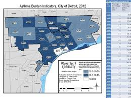 area code map of michigan persistent childhood asthma increases in detroit