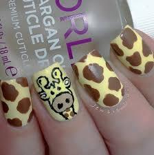 how to giraffe nail art tutorial youtube