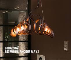 Schlafzimmer Lampe Vintage Retro Bar Eisen Lampe Spirale Leuchtmittel Kronleuchter Loft Still
