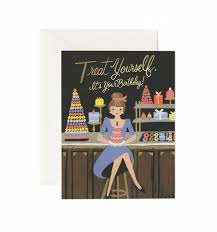 treat yourself birthday available as a single folded card or boxed
