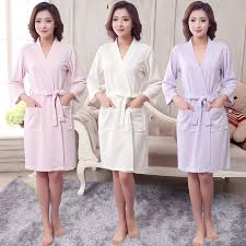 waffle robes for bridesmaids aliexpress buy new summer cotton towel kimono bath