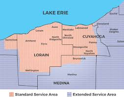Lakewood Ohio Map by Service Area West Side Cleveland Hvac Jd Indoor Comfort