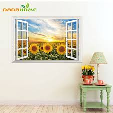 Sunflower Home Decor Online Buy Wholesale Sunflower Wall Decor From China Sunflower