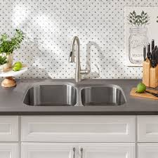 kitchen cabinet sink used how to install an undermount sink the home depot