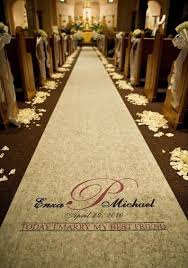 aisle runners for weddings wedding aisle runner personalized ivory