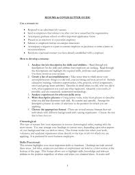 starting a resume resume for your job application