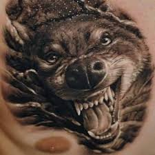 chest cover up with outstanding 3d mind blowing wolf