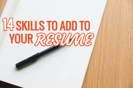 skills to add on a resume resume ideas