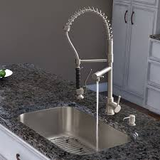 vigo stainless steel pull out kitchen faucet decorating white kitchen cabinets with delicatus granite