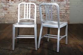 Emeco Bar Stool Vintage Industrial Emeco Navy Chair Pair Original And Made In