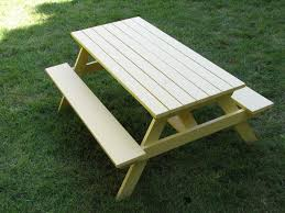 Free Plans Hexagon Picnic Table by Picnic Table With Benches Plans Free Bench Decoration