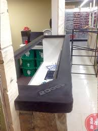 Concrete Reception Desk Charcoal Concrete Reception Desk With Inlaid Display