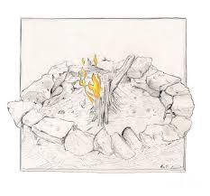 fire pit digital art by mathew luebbert