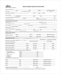 enrollment form format template billybullock us