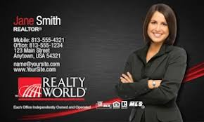 Realtor Business Card Template Realty World Business Card Templates Designed For Realty World