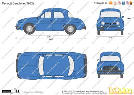 renault dauphine the blueprints com vector drawing renault dauphine