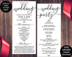Easy Wedding Programs The 25 Best Wedding Ceremony Program Template Ideas On Pinterest