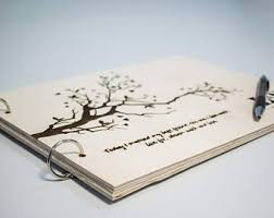 engraved wedding album wooden wedding album etsy