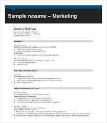 Resume Samples For Marketing Professionals by Professional Resume Samples 9 Free Word Pdf Documents Download