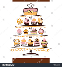 wedding cake logo wedding cake logo ingredient element stock illustration