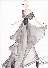 simple sketches of with dresses latest fashion style
