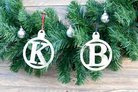 baubles initial silver or gold set of 6