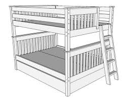 Bunk Bed Drawing B093 Bunk Bed Mission The Bunk Loft Factory