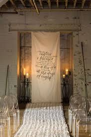 wedding backdrop altar whiskey business a modern industrial wedding in the heart of