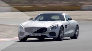 2015 mercedes amg 2015 mercedes amg gt drive on racetrack