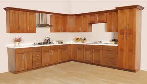 Glass Door Cabinet Kitchen Kitchen Furniture Kitchen Brown Polished Teak Wood Kitchen