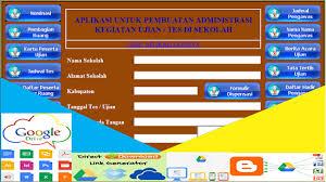 format absensi ujian aplikasi administrasi kegiatan ujian sekolah un us contoh format